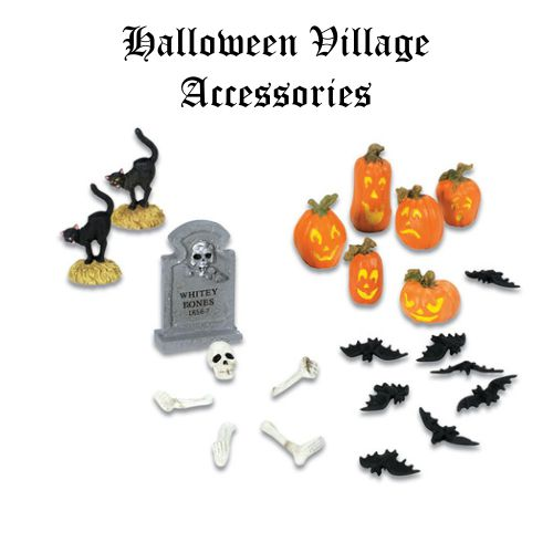 Halloween Village Accessories