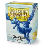 Dragon Shield Sleeves Matte Blue Clear 100ct