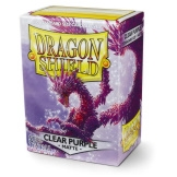 Dragon Shield Sleeves Matte Purple Clear 100ct