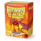 Dragon Shield Sleeves Matte Orange 100ct