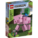 LEGO Minecraft Pig With Baby Zombie Bigfig