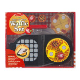 Press & Serve Waffle Set Wooden