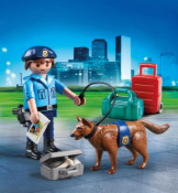 Playmobil Policeman With Dog Easter Egg