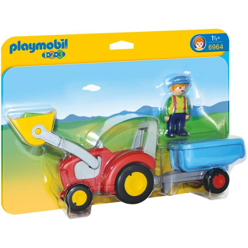 Playmobil 1-2-3 Tractor With Trailor