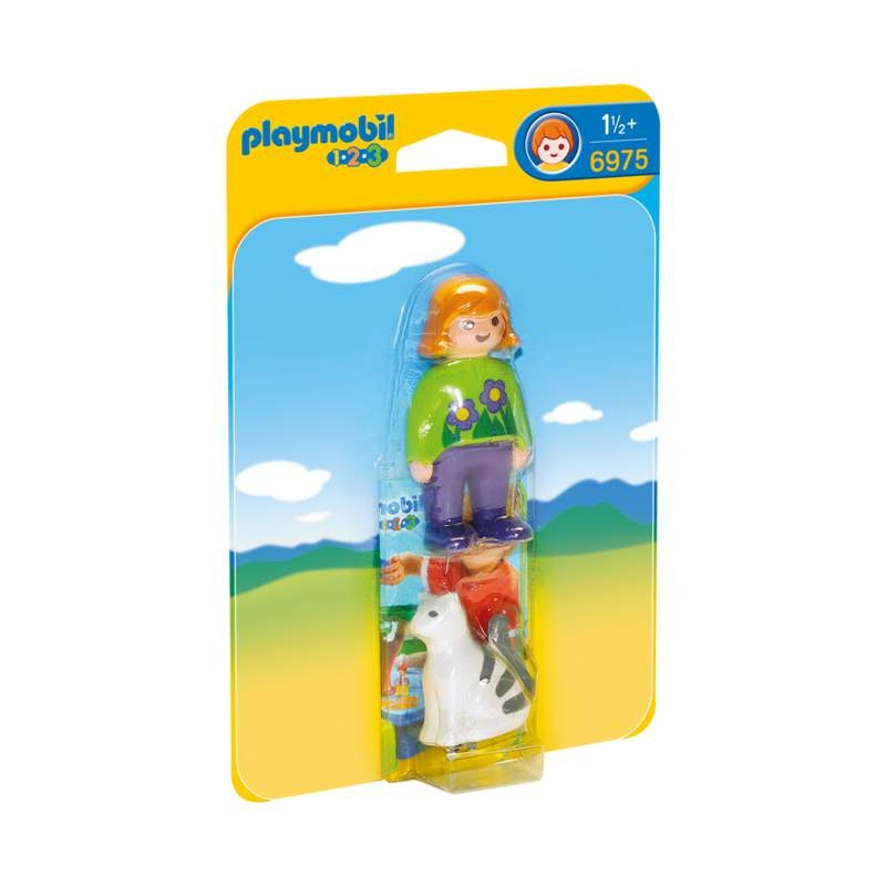 Playmobil 1-2-3 Woman With Cat