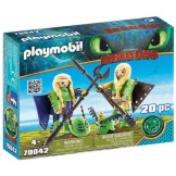 Playmobil How To Train Your Dragon Ruffnut & Tuffnut with Flight Suit