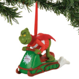 Grinch Snowmobil Fun Ornament