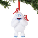 Bumble w/Birds Flocked Ornament