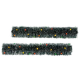 Lighted Christmas Sisal Hedges-Set of 2