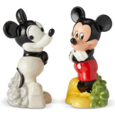 Mickey Then & Now Salt & Pepper