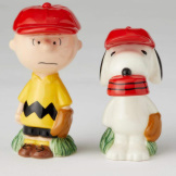 Charlie Brown & Snoopy Baseball Salt & Pepper