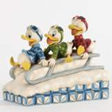 Huey Dewey and Louie Sledding