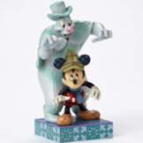 Mickey and Lonesome Ghost Halloween Figurine