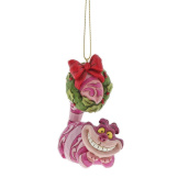 Cheshire Cat with Wreath Ornament