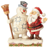 Frosty and Santa Hugging