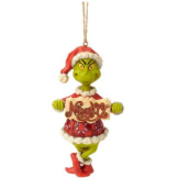 Grinch with Naughty/Nice Sign Ornament