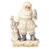 White Woodland Santa with Owl