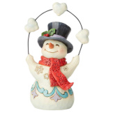 Pint Size Snowman Juggling Hearts