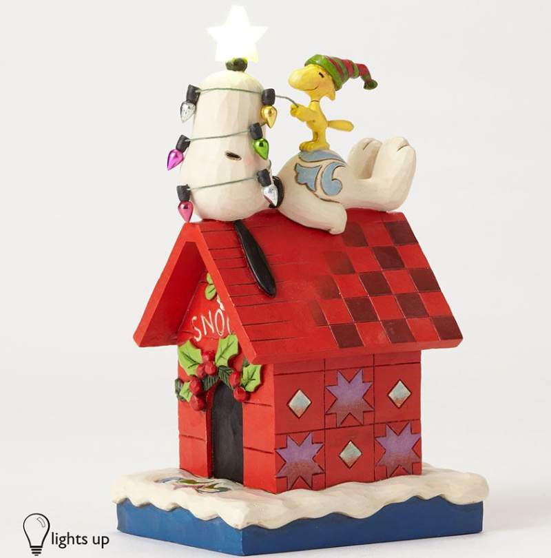 Snoopy dog house lighted star for Jim s dog house