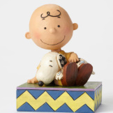 Charlie Brown with Snoopy Snuggling