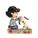 Lucy Petting Snoopy - Angling for Attention