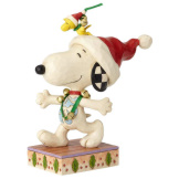 Snoopy & Woodstock with Jingle Bells