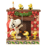 Snoopy at Fireplace