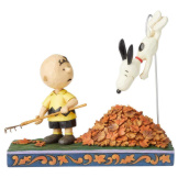 Charlie Brown/Snoopy in Leaves