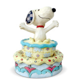 Snoopy Jumping Out Bday Cake