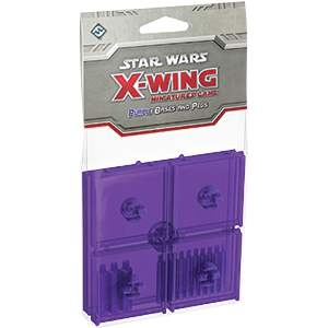Star Wars X-Wing Miniatures Bases & Pegs Purple