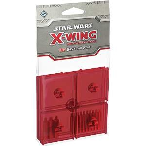 Star Wars X-Wing Miniatures Bases & Pegs Red