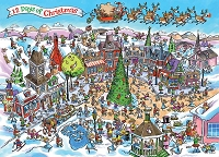 DoodleTown: 12 Days of Christmas 1000 piece puzzle