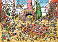 DoodleTown: Elves at Work 1000 piece puzzle