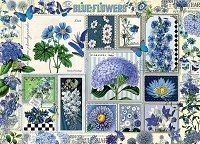Blue Flowers 1000 piece puzzle