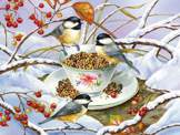 Chickadee Tea 275 piece puzzle