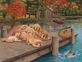 Lazy Day on the Dock 275 piece puzzle
