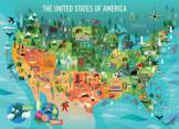 United States of America 350 piece Family Puzzle