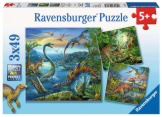 Dinosaur Facination 3 x 49 Pieces