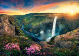 Waterfall Haifoss 2000 piece puzzle