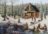 Winter At The Log Cabin- Genest 1000 piece puzzle