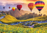 Hot Air Balloons At Sunset 1000 piece puzzle