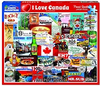 I Love Canada 1000 Pieces