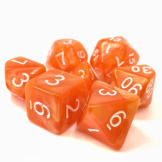 TMG Dice Opaque RPG Set of 7 Orange Pearl