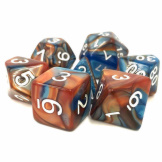 TMG Dice Fusion RPG Set of 7 Scrying Stone Blue/Gold