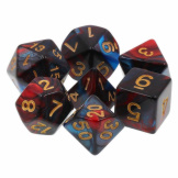 TMG Dice Fusion RPG Set of 7 Red Son Red/Blue