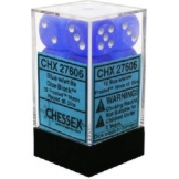 Chessex Dice 12D6 Frosted Blue/White 16MM