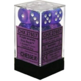 Chessex Dice 12D6 Borealis Purple/White 16MM