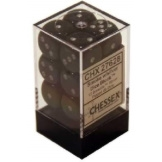 Chessex Dice 12D6 Borealis Smoke/Silver 16MM