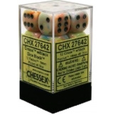 Chessex Dice 12D6 Festive Circus/Black 16MM