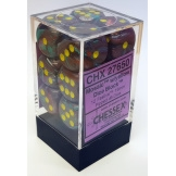 Chessex Dice 12D6 Festive Mosiac/Yellow 16MM